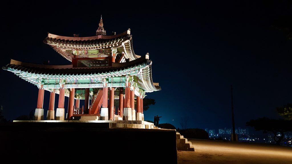 Puesto de control Seojangdae en la Fortaleza de Suwon, Corea del Sur.