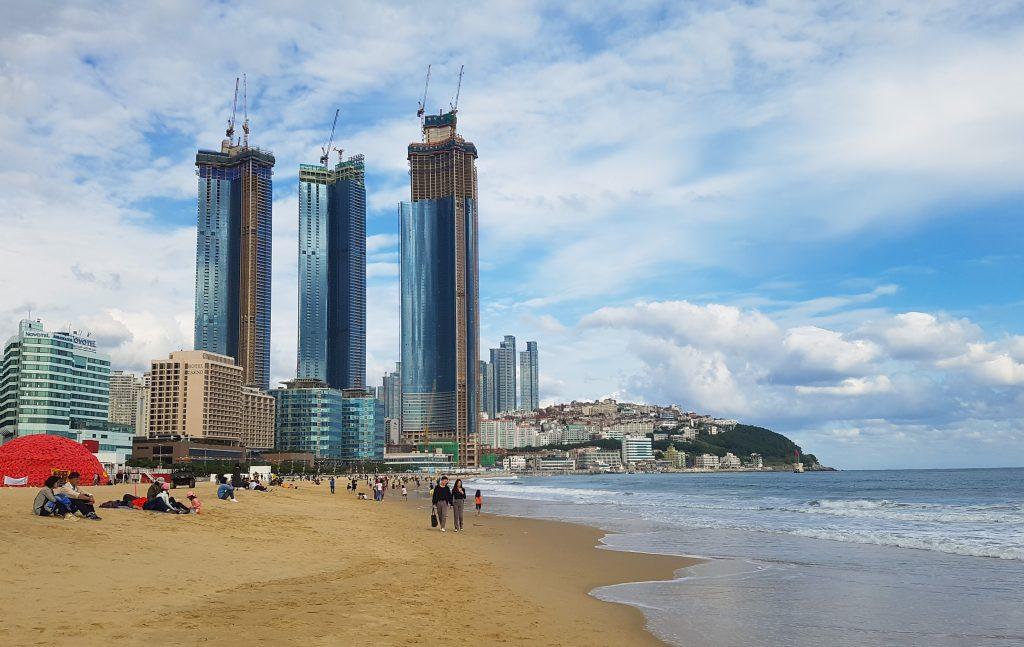 Playa-haeundae-en-busan-corea-del-sur