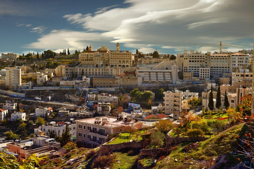 Paisaje de Belén, Palestina.