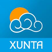 MeteoGalicia: Logo de la app de la Xunta de Galicia para conocer el clima en cada ayuntamiento de Galicia.